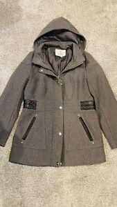 Guess Gray Wool Jacket Size XL