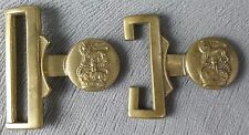 Pair of British Military Army General Service Stable Belt Buckle Parts