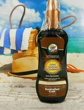 New Australian Gold Dark Tanning Accelerator Spray Gel w Bronzers 8oz Vitamin E