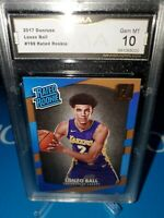 GMA 10 💎 MINT ~2017-18 Donruss Lonzo Ball RC #199, Lakers Rated Rookie 🔥🏀💎🚀