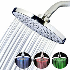 8 inch 3 Color-Changing LED Shower Head USA