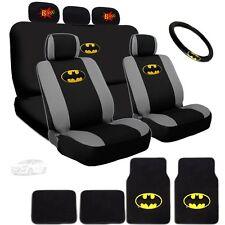 Ultimate Batman Seat Steering Mats & Classic BAM Headrest Cover Set For Hyundai