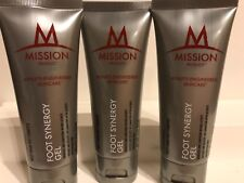 Lot of 3 Mission Athlete-Engineered Skincare Foot Synergy Gel ~ 2 oz each Sealed