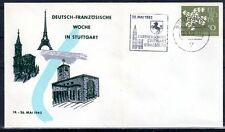 EUROPA CEPT FDC 1961 ALLEMAGNE 10 - flamme STUTTGART de 1962