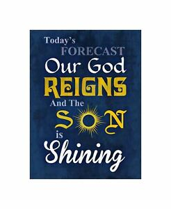 Forecast God Reigns Son Shining Quote Typography Religion Christ Canvas Print