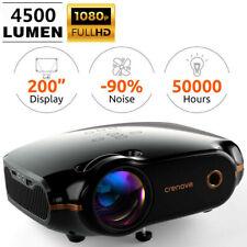 Crenova Projektor 3D Beamer 1080P LED Heimkino HDMI Cable Full HD Multimedia
