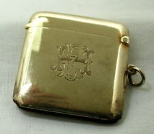 1920's Heavy Solid 9 Carat Gold Match Case
