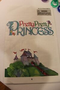 2009 Pretty Pretty Princess INSTRUCTIONS ONLY Replacement Pieces Game Pieces