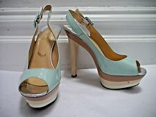 CHRISTIAN LOUBOUTIN Scarpe 123 triple platform peep toe heels size 37.5 US 7 7.5