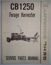 Gehl CB 1250 Forage Harvester Parts Manual Catalog Book 3/81 Original