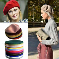 Fashion Womens Beanie Beret Winter Warmer French Artist Hats Ski Caps Solid Hats