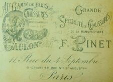 1870's Au Gamin De Paris, F. Pinet Gaulon French Lovely Victorian Trade Card F84