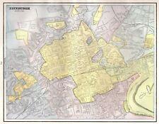 1892 Antique EDINBURGH Scotland Map or DUBLIN Ireland Map Your Choice 4506