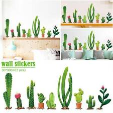 2X DIY Room Cactus Wall Sticker Decal Removable Mural Decals PVC Art Home Decor