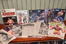 BIOGRAPHY ANDRE the GIANT Book WWF WRESTLING lot magazine clippings Hulk Hogan