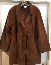 NEW Denim & Co Womans Corduroy Jacket Coat Lined Plus Size 22W Measures Like 3X