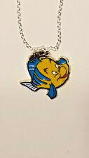necklace Pendant charm new Flounder Little mermaids friend