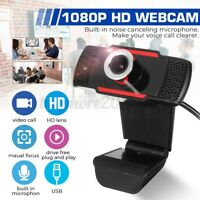 USB2.0 Desktop and Laptop WebCam Full HD 1080p Compatible with Windows Mac a