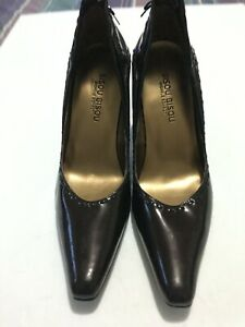 Bisou Bisou Women Size 9M Brown Patent Leather Platform Heel
