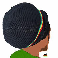 Rasta Roots Peak Natty Dread Cap Hat Selassie Africa Reggae Jamaica Marley L/XL