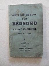 Original 1959 Bedford van CAS & CAD models 10-12 & 15 cwt owners manual