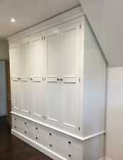 Painted 5 Door Edwardian Wardrobe over 6 drawers - free standing - hand made