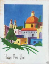 Vintage Christmas New Year Card Christian Galilee Church Jesus Miracle Holy Land