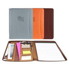 Italian Tuscan Leather Business Padfolio Portfolio Organizer Folder 3 Colors