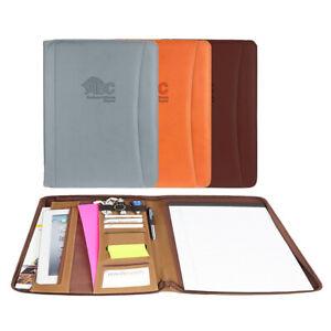 Italian Tuscan Leather Business Padfolio Portfolio Organizer Folder: 3 Colors