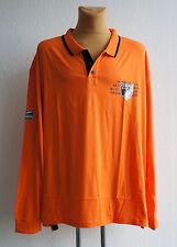 NEU Übergröße bequemes Herren Langarm Polo Shirt orange schwarz Gr.72/74  (6XL)