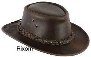 FREE DELIVERY Australian Style Leather Cowboy Hat Western Brown Bush Outback Hat