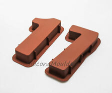 """LARGE 12"""" SILICONE NUMBER MOULDS 17 CAKE TEENAGER BAKING PAN BIRTHDAY 17th CHILD"""
