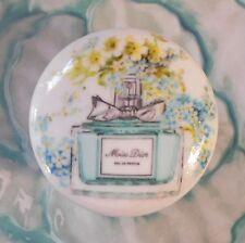 Miss Dior Perfume FRENCH ceramic knob pull dresser Bedroom Bath vanity room chic