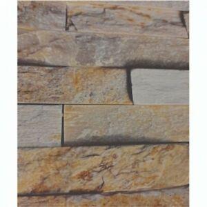 3D Effect Beige Brick 1000MM x 2.4m X 10mm thick Shower wet wall panels
