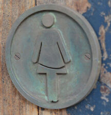 NEW, Hand Made Female, Ladies, Toilet Bathroom Bronze Resin door, plaque, sign