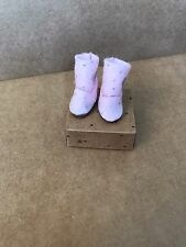 Blythe Doll Boots  - UGG Boot Style - Pink With Silver Glitter Dots And Hearts
