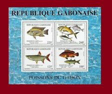 GABON SHEET BLOC 1993 MICHEL Mi BL B 101 POISSONS DU GABON FISHES FISH OF MNH