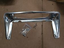 1963-67 CORVETTE REAR LICENSE PLATE BEZEL aluminum FRAME WITH MOUNTING SCREWS