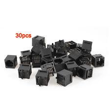 30 Pcs Unshielded RJ45 8P8C Network Modular PCB Connector Jacks Black LW SZUS
