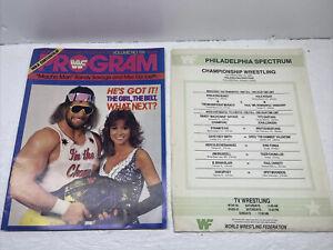 WWF Wrestling Program Magazine 135 MACHO MAN Elizabeth Hulk Centerfold W Card