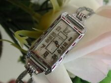 1929 Art Deco Red Enamel Westfield/Bulova Watch ~Case ~ Runs