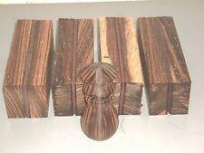 4) 2x2x6 Laminated Zebrawood Sapele and Maple Wood Turning Spindle Blanks Blocks