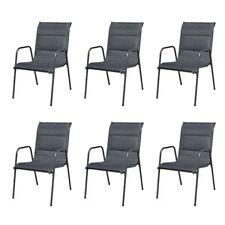 vidaXL 6x Gartenstuhl Textilene Stapelstuhl Hochlehner Esszimmerstuhl Sessel
