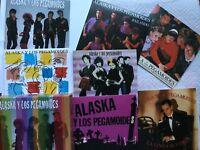 Caja 6 cds singles + libreto: Alaska y los Pegamoides. Descatalogado Fangoria.