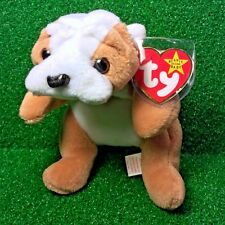 Ultra-Rare 1st Edition Ty Beanie Baby Wrinkles The Bulldog Retired 3rd Gen PVC