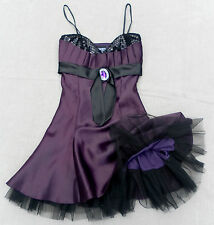 ladies petite evening dress size 8 purple wedding special occasion party strappy