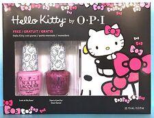 OPI HELLO KITTY 2-pc Nail Polish Set + FREE HK Coin Purse - DDH07 H83 H86 Ltd Ed