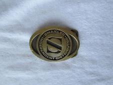 Vintage Saklee Brass Basic Tool & Supply Metal Belt Buckle