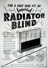RADIATOR BLIND Original 1959 Motor Magazine Advert 1/4 page