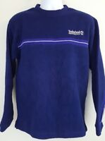 Timberland Mens Performance Polartec Long Sleeve Pullover Fleece Shirt Blue S